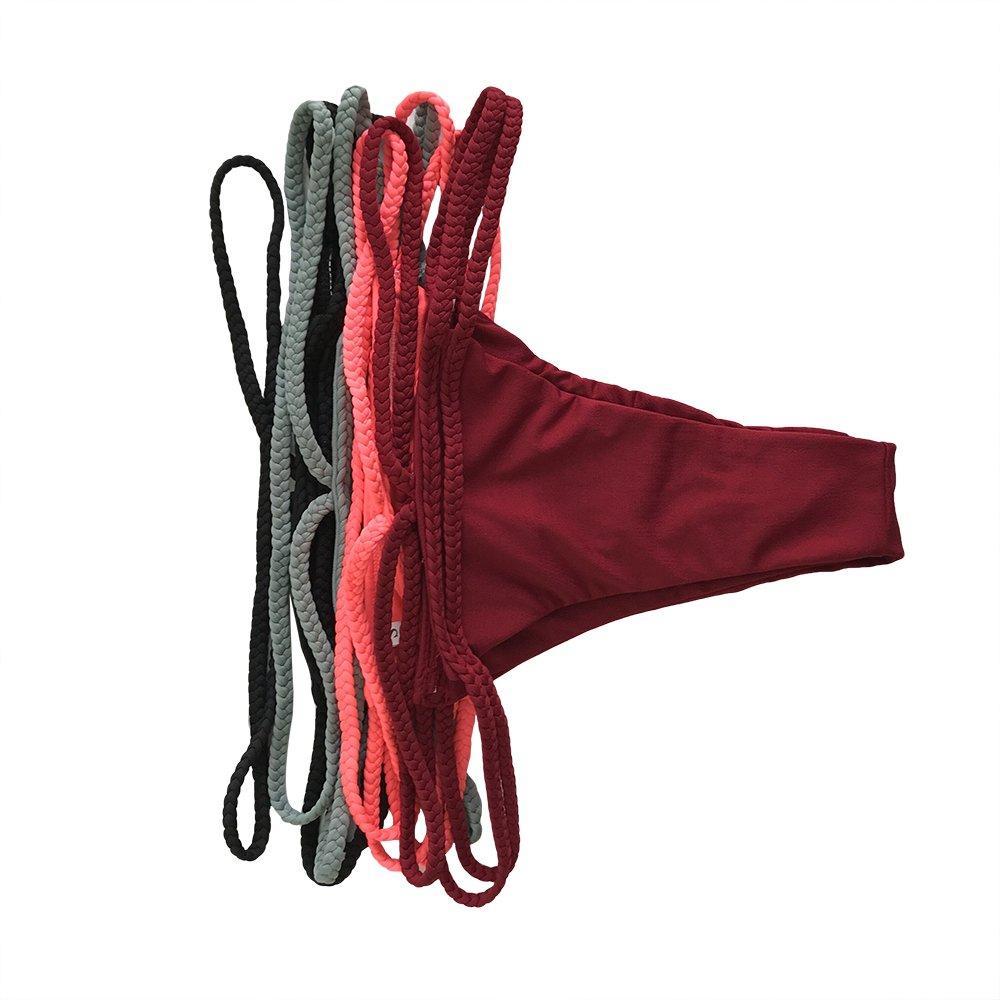 Bikini Damen Schwarz,Chicolife Damen Bandage Bikini Satz Push-up Gepolstert Halter Bandeau Einfarbig Badeanzug Baden Strand Badebekleidung