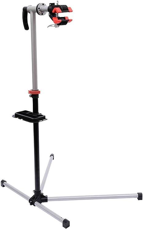 HOMCOM Reparacion Bicicletas Soporte de Pie con Bandeja Imantada Altura de 90 a 170 cm Herramientas Bici de Rotación de 360°: Amazon.es: Deportes y aire libre