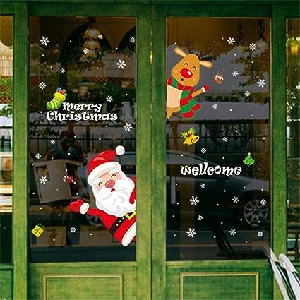 Jaysis Autocollant Stickers Noël Pour Fenêtre Mural De Porte La