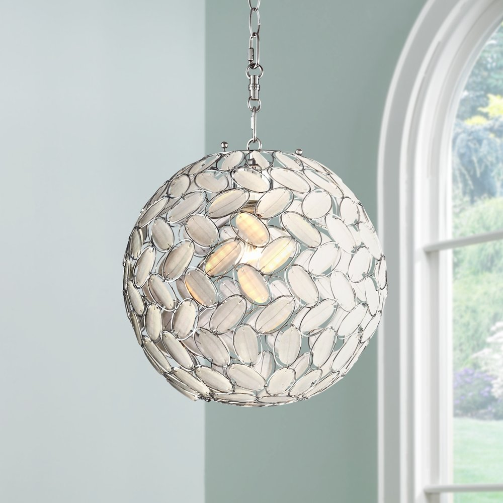 Kaia frosted beads 12 wide chrome plug in swag pendant kaia frosted beads 12 wide chrome plug in swag pendant chandeliers amazon aloadofball Image collections