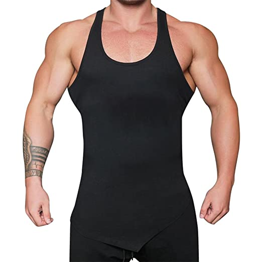 a6d239cc Amazon.com: Tank Tops for Men,Sunyastor Summer Sports Gym Bodybuilding  Stringer Tops Pure Muscle Workout Fitness Sleeveless T Shirt: Clothing