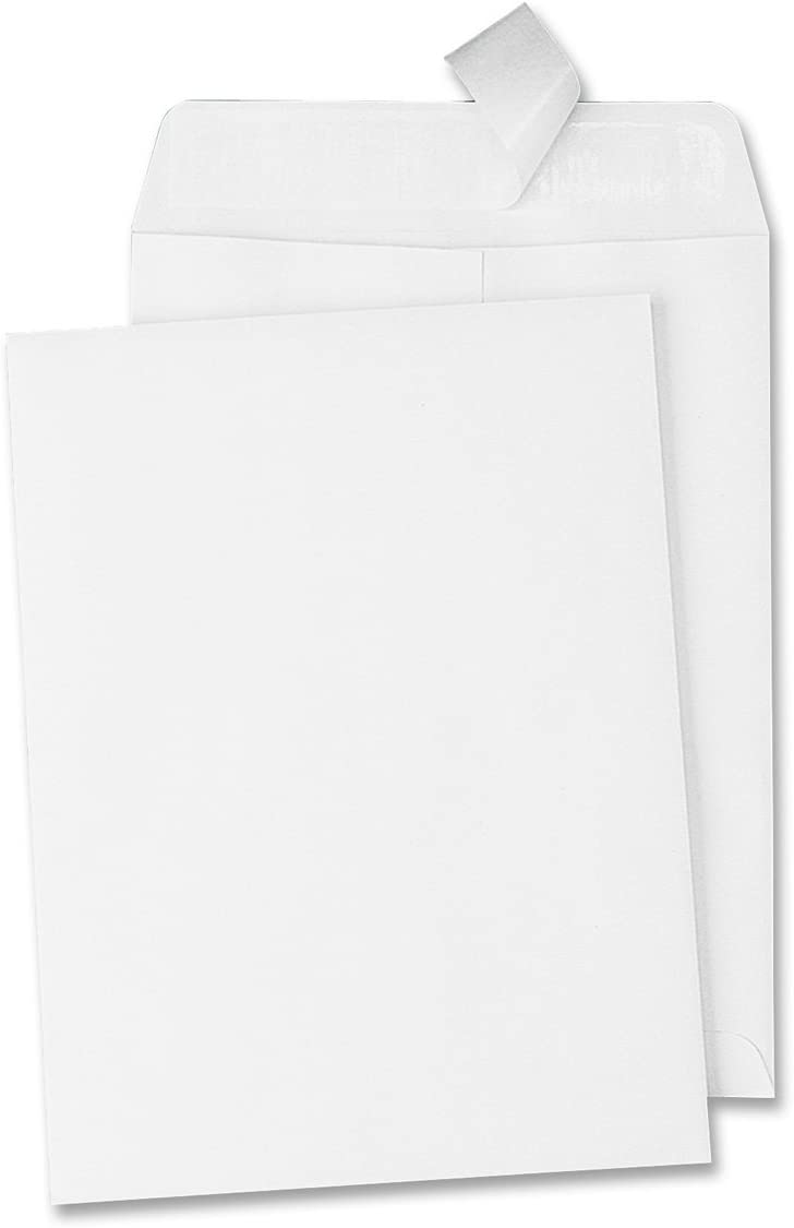 Quality Park, Catalog Envelope, Redi-Strip, White, 6x9, 100 per box (44182) : Office Products