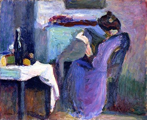 Woman Reading Matisse - Henri Matisse - Reading Woman in Violet Dress Musée des Beaux-Arts de Reims 30