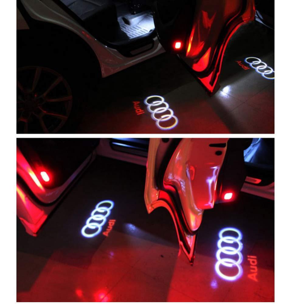 ZHANGNA 2 Piezas Car Puerta Logo Proyector Bienvenido Ghost Sombra Luz Iluminaci/ón