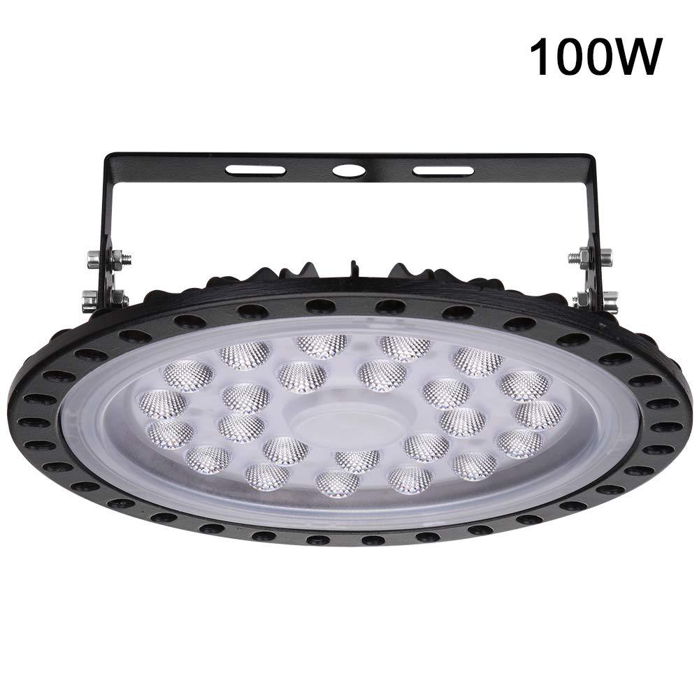 illuminazione da officina bianca fredda per magazzino fabbrica officina garage Faretto da interno 500W LED UFO cantina lampada industriale 40000LM Lampada da fabbrica industriale palestra
