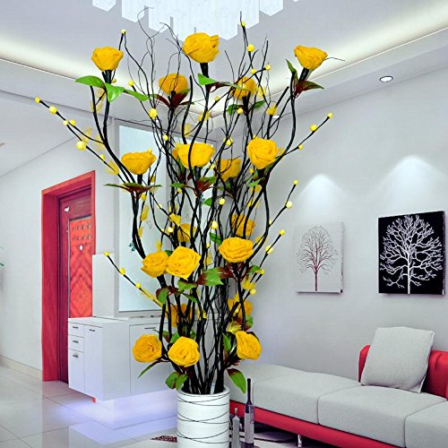 Fkduih The Peony Flower Bonsai Flowers Tall Living Room Floor Plastic Peony Peony Tree Simulation,D