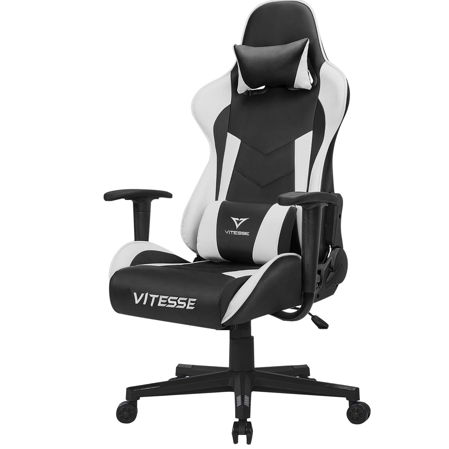 Vitesse Computer Gaming Chair Racing Style High-Back PC Chair Ergonomic Office Desk Chair Swivel E-Sports Leather Chair with Lumbar Support and ...  sc 1 st  Amazon.com & Amazon.com: Vitesse Computer Gaming Chair Racing Style High-Back PC ...