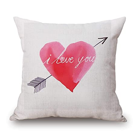 Zalando Cuscini Arredo.Npradla Seta Cuscino Car Happy Love Day Cuscino Car Quadrato Love
