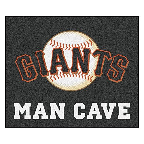MLB San Francisco Giants Man Cave Tailgater Rectangular Mat Area Rug ()