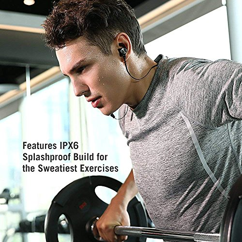 Bluetooth Headphones TaoTronics Wireless 50 Magnetic Earbuds Snug Fit for Sports with Built in Mic TTBH07 IPX6 Waterproof aptX Stereo 9 Hours Playtime