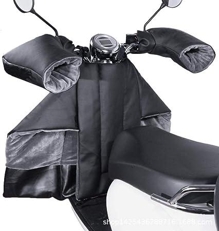 Ridecle Tablier Couvre Jambe Scooter avec Gants De Guidon Protection Couverture Jambes Scooter Leg Cover Imperm/éable Coupe-Vent Thermique Kit De Protection De La Jambe Main Hiver Conduite Au Chaud