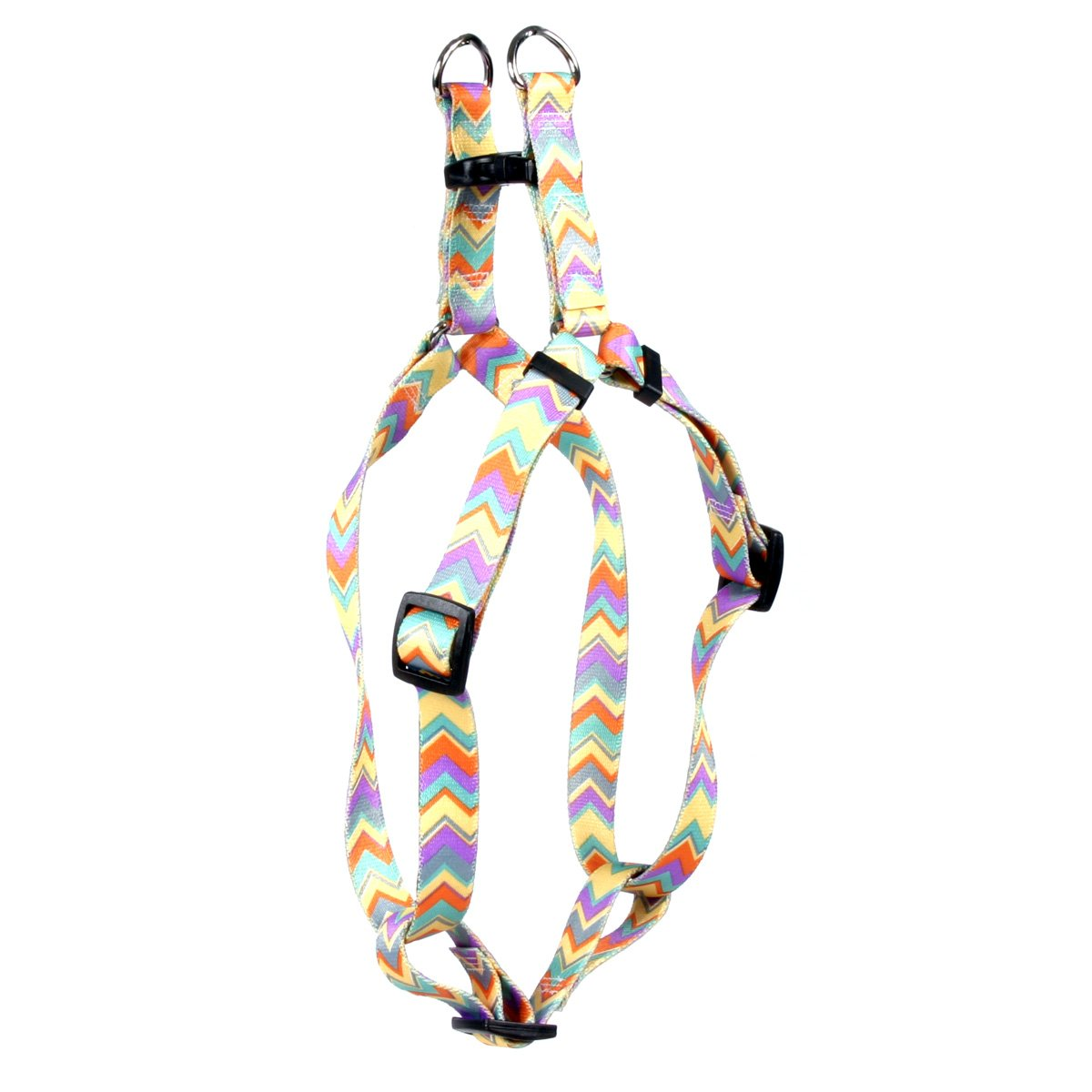 Yellow Dog Design Chevy Stripe 15-Inch to 25-Inch Step-in Harness, Medium, Multicolor