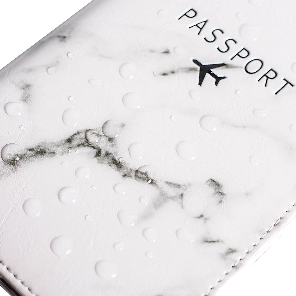 Leotruny Passport Holder Cover Waterproof Rfid Blocking Travel Wallet Case (White Marble) by leotruny (Image #7)