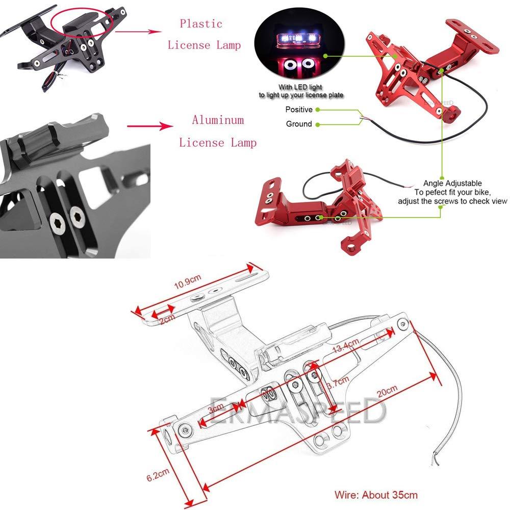 Universal Motorcycle Accessories CNC Adjustable License Plate Holder Fender Eliminator Bracket/For Honda KTM Yamaha Suzuki Ducati Bmw
