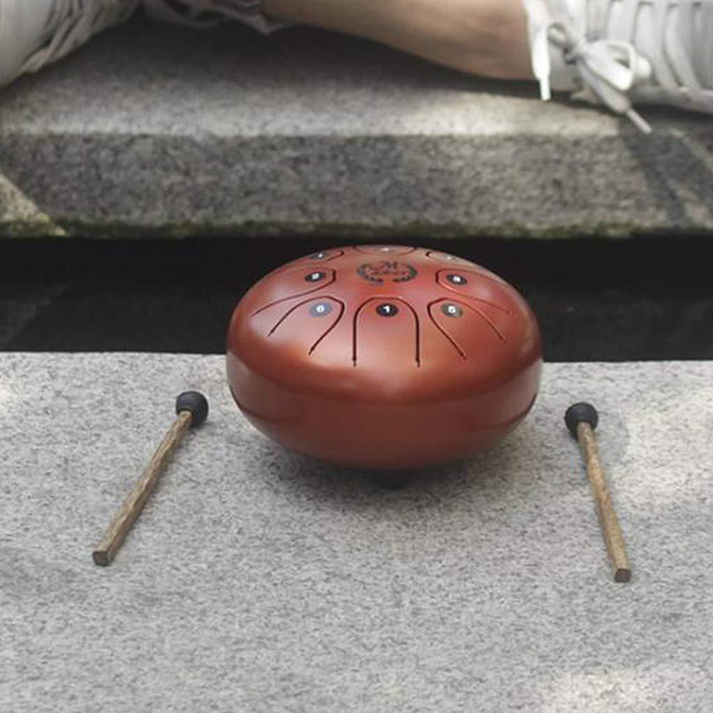 como se describe rojo Sharplace 5.5  Acero Tongue Drum Handpan Mallets Llevar Bolsa para Regalo de Ni/ños