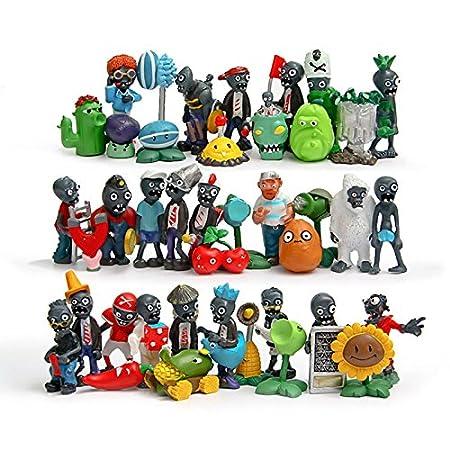 Amazon.com: 40pcs/set Plants vs Zombies PVC Action Figures 4-8cm Plants Zombies Collection Model Toys Gifts for Children: Toys & Games