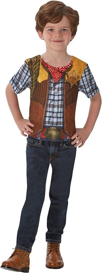 Disfraz de Rodeo Cowboy para niño, camiseta - infantil 3-4 años (Rubies 630693-S): Amazon.es: Juguetes y juegos