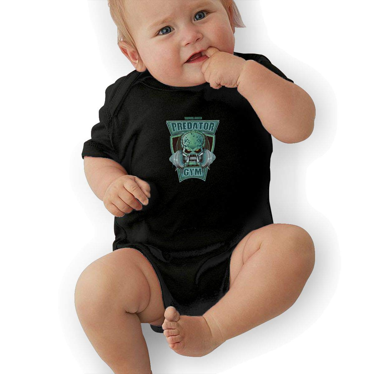 Dfenere Predator Gym Fashion Newborn Baby Short Sleeve Bodysuit Romper Infant Summer Clothing