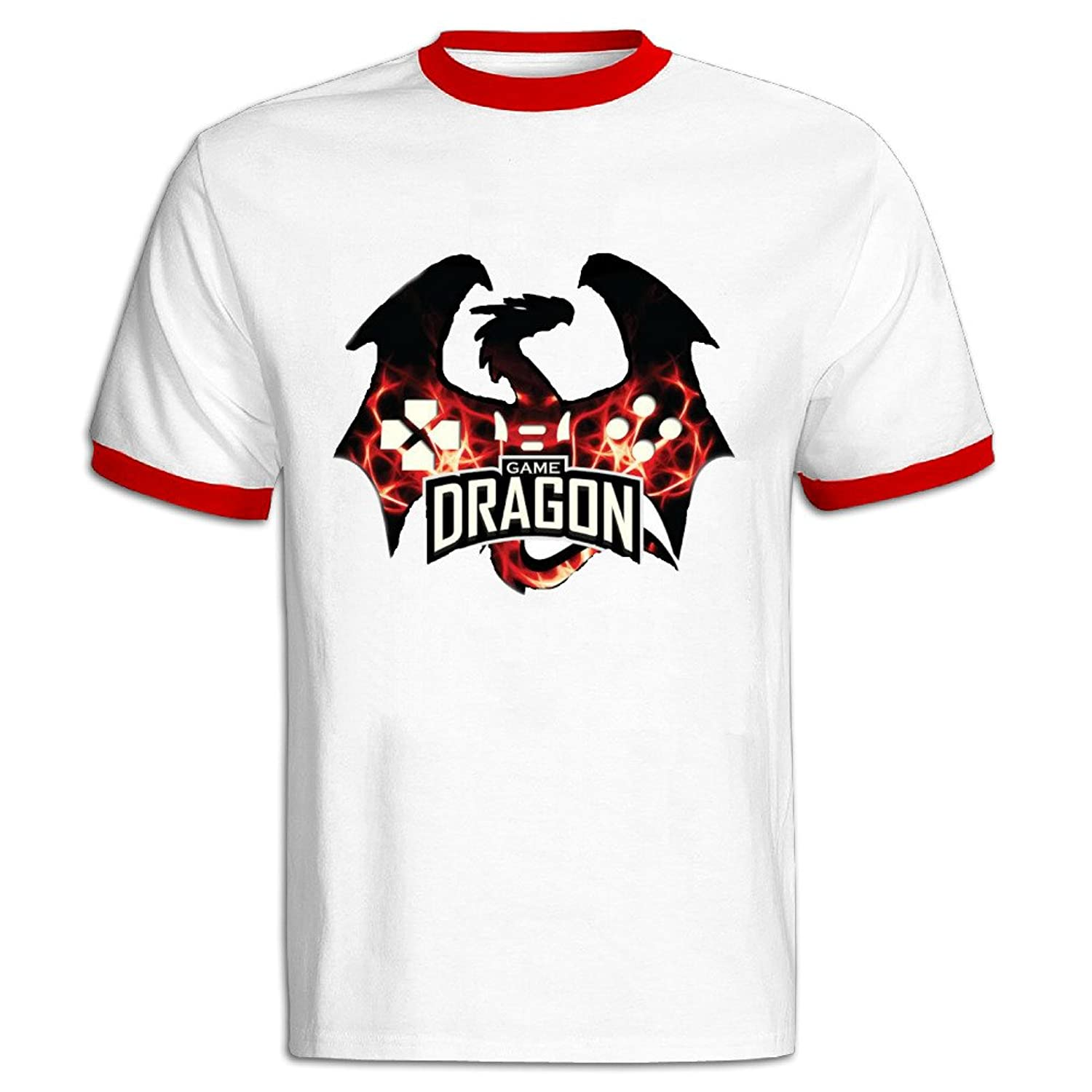 Men's Red Pre-cotton The Last Of Us Remastered Game Dragon Tee-shirt US Size