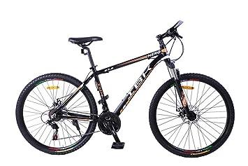 IBK – Bicicleta Hero de montaña con cuadro de 66 cm (27,5 pulgadas) y 7 velocidades, suspensión delantera Shimano, Naranja/negro: Amazon.es: Deportes y aire ...