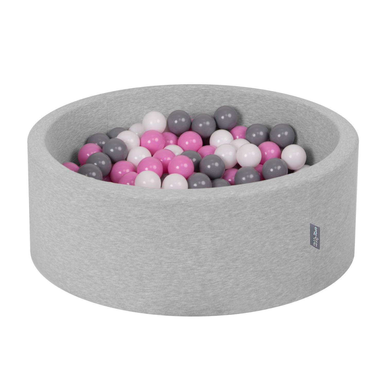 Transparente Gris Blanco Rosa Menta KiddyMoon 300 /∅ 7Cm Bolas Colores De Pl/ástico para Piscina Certificadas para Ni/ños