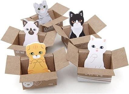 Affe 5pcs Mini Cute Cartoon Kawaii Gatos y Perros Memo Pad Caja ...