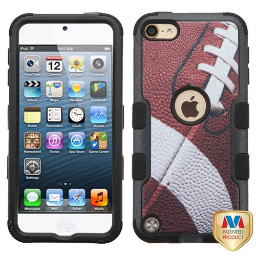 Apple iPod Touch 5th 6th Generation Football Black TUFF Hybrid Case Cover (Ipod 5 Cases Made By Mybat)
