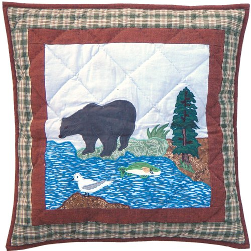 Patch Magic Natures Splendor Toss Pillow, 16-Inch by 16-Inch