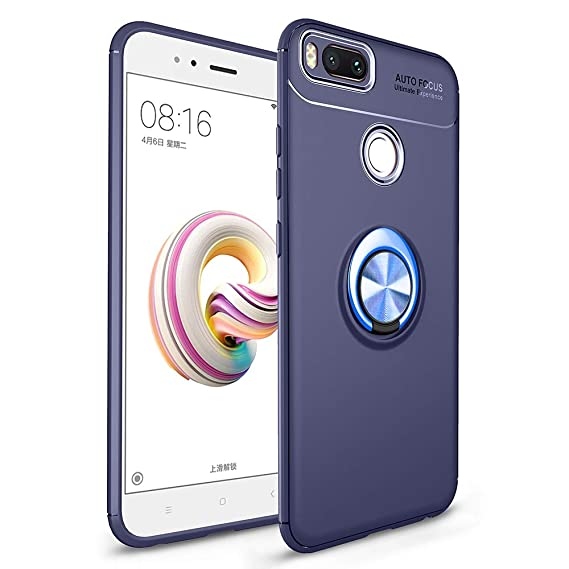 buy popular ed9a0 0b58b Avalri Xiaomi Mi A1 Case, Thin Soft Full Protective 360 Degree Rotating  Ring Kickstand Cover with Support Magnetic Car Mount Function for Xiaomi Mi  ...