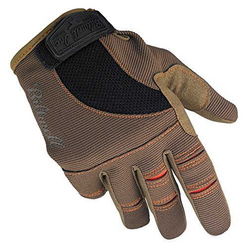 (Biltwell Moto Gloves (Brown/Orange, X-Large))