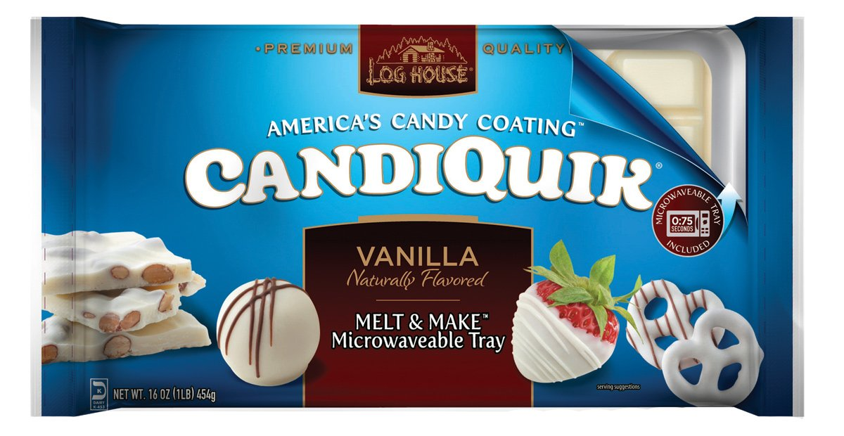 Log House CandiQuik Candy Coating, Vanilla, 16 Ounce Package (Pack of 2)