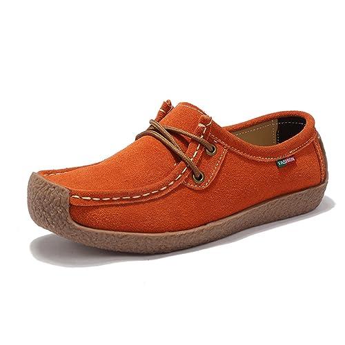 Z.SUO Mujer Mocasines de Cuero Moda Loafers Casual Zapatos de conducción  Zapatillas  Amazon.es  Zapatos y complementos d62d52a54376