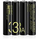 Rechargeable Akku Batterien,Coolreall Vorgeladener AAA NI-Mh Akku (1100 mAh,1.2V) inkl Akku Aufbewahrungsbox