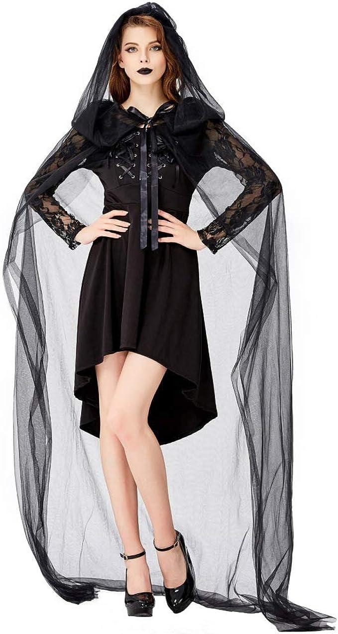 XIEPEI 2019 Disfraz de Bruja de Vampiro Oscuro para Halloween ...