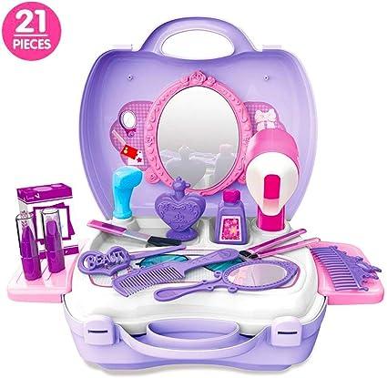 Little Fairy Princess Makeup Set Pretend Play Vanity Beauty Set with Make-up Box