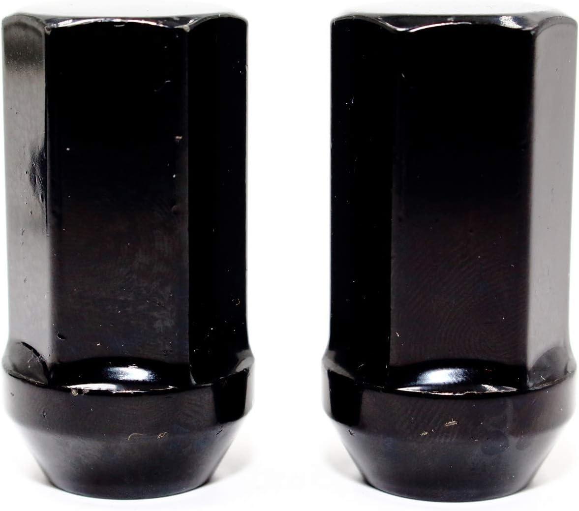 Set of 24 Veritek 14x1.5mm 1.75 Inch 45mm Overall Length 7//8 22mm Hex Black Acorn Lug Nuts for Aftermarket Custom SUV Truck Wheels