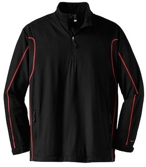 5b359f6032dc Amazon.com   Nike 393870 Unisex 1 2-Zip Wind Jacket Black Varsity ...