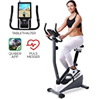 Miweba Sports Ergometer ME300 Trimmrad Cardio Heimtrainer - App Steuerung - 10 Kg Schwungmasse - Pulsgurt - Magnetbremse - LCD Display