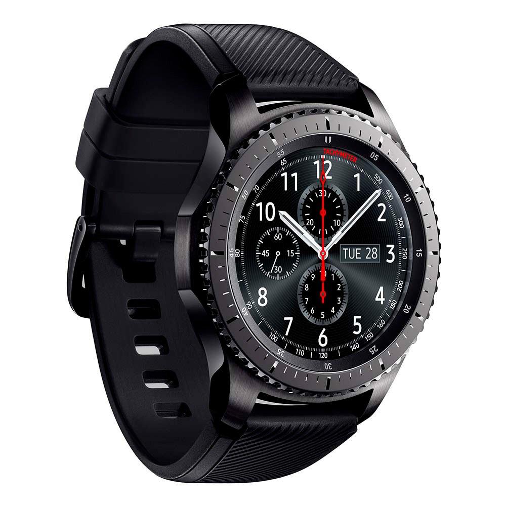 9329dd372 Samsung Gear S3 Frontier - Reloj Inteligente, Color Gris Oscuro (Importado)  [Versión importada: Podría presentar Problemas de compatibilidad]:  Amazon.es: ...