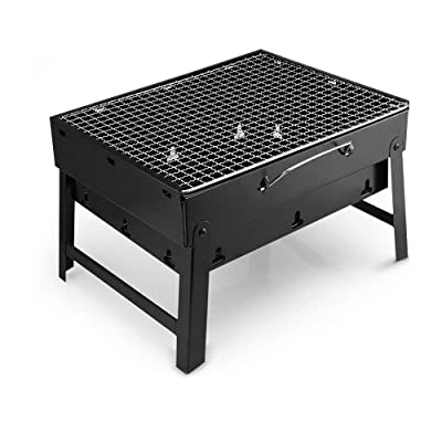 feierna Barbecue Lightweight Charcoal Grill Stainless Folding Portable BBQ Tools for Outdoor Cooking Camping Hiking Picnics Tailgating Backpacking (Small) : Garden & Outdoor