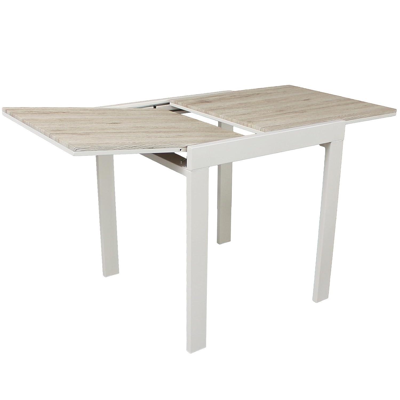 YELLOO mesa bar cocina 70 x 70 extensible mod. Sanremo roble beige ...