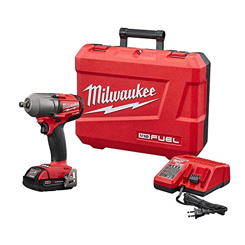 M18 FUEL 18-Volt Lithium-Ion Mid Torque Brushless Cordless 1 2 in. Impact Wrench W Friction Ring Kit