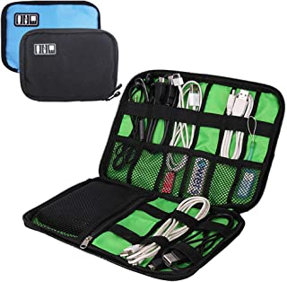 Kabel Organizer Elektronik Zubehör Tasche, yucool 2Pack portable Reisen Tasche für Festplatte, USB, Ladegerät, Ladekabel, Power Bank–Schwarz, Blau