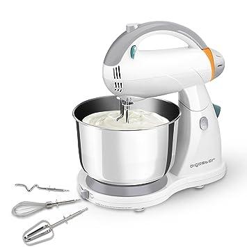 Aigostar Sourdough 30HLZ - Robot de cocina 2 en 1: robot de sobremesa multifunción y batidora de mano, 300W. 4L. Accesorios incluídos, 12 ...