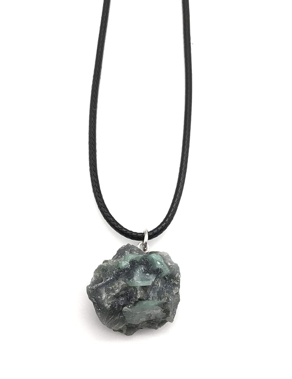 Emerald Raw Braided Necklace