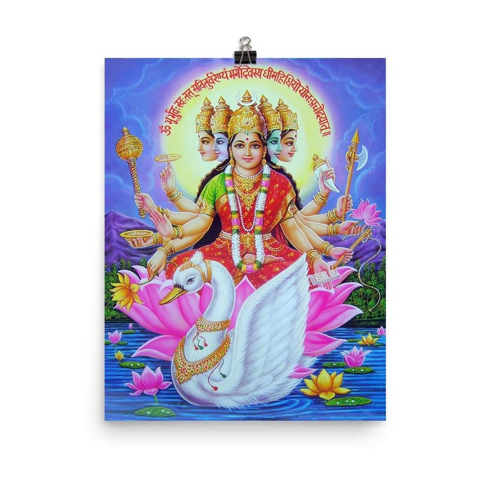 Amazon com: Gayatri Devi Mantra Wall Décor Poster