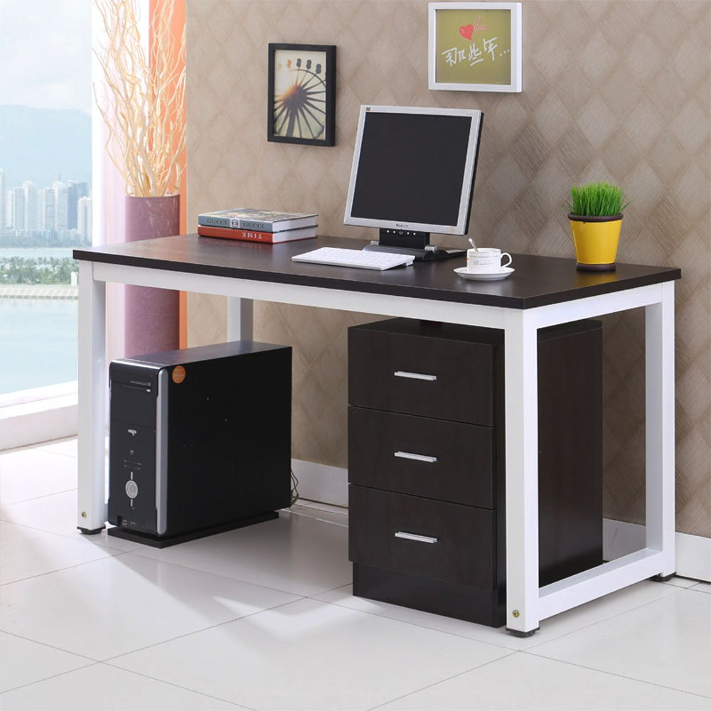 sturdy office desk. Gootrades Computer Table,47\u0027\u0027 Sturdy Office Desk Study Writing Desk,Modern Simple Style PC Workstation Table For Home Office,Black