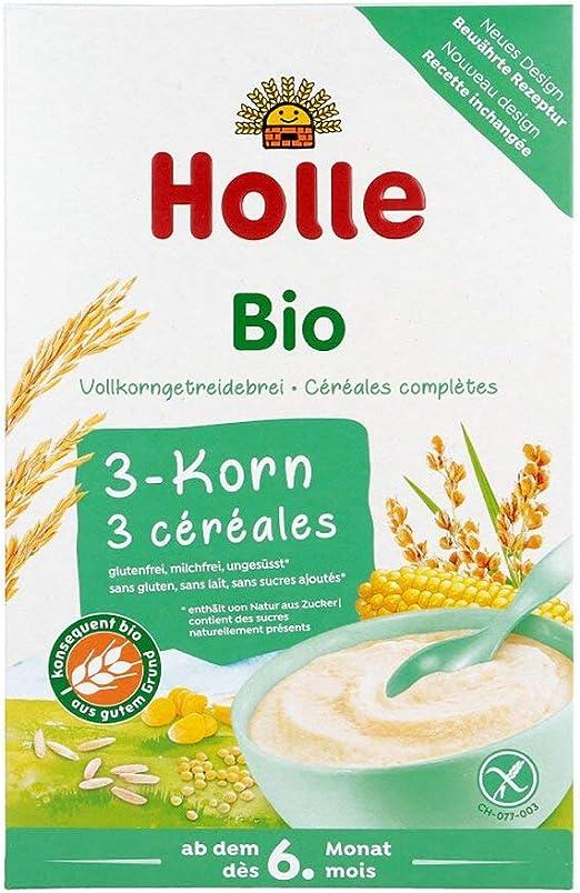 HOLLE Bio Babybrei 3 grano 250 g: Amazon.es: Salud y cuidado personal