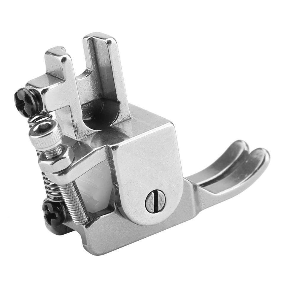 #1 Pressure Adjustable Roller Presser Foot Sewing Machine Presser Roller Foot Attachment Accessory for Leather Thick Fabric Cloth