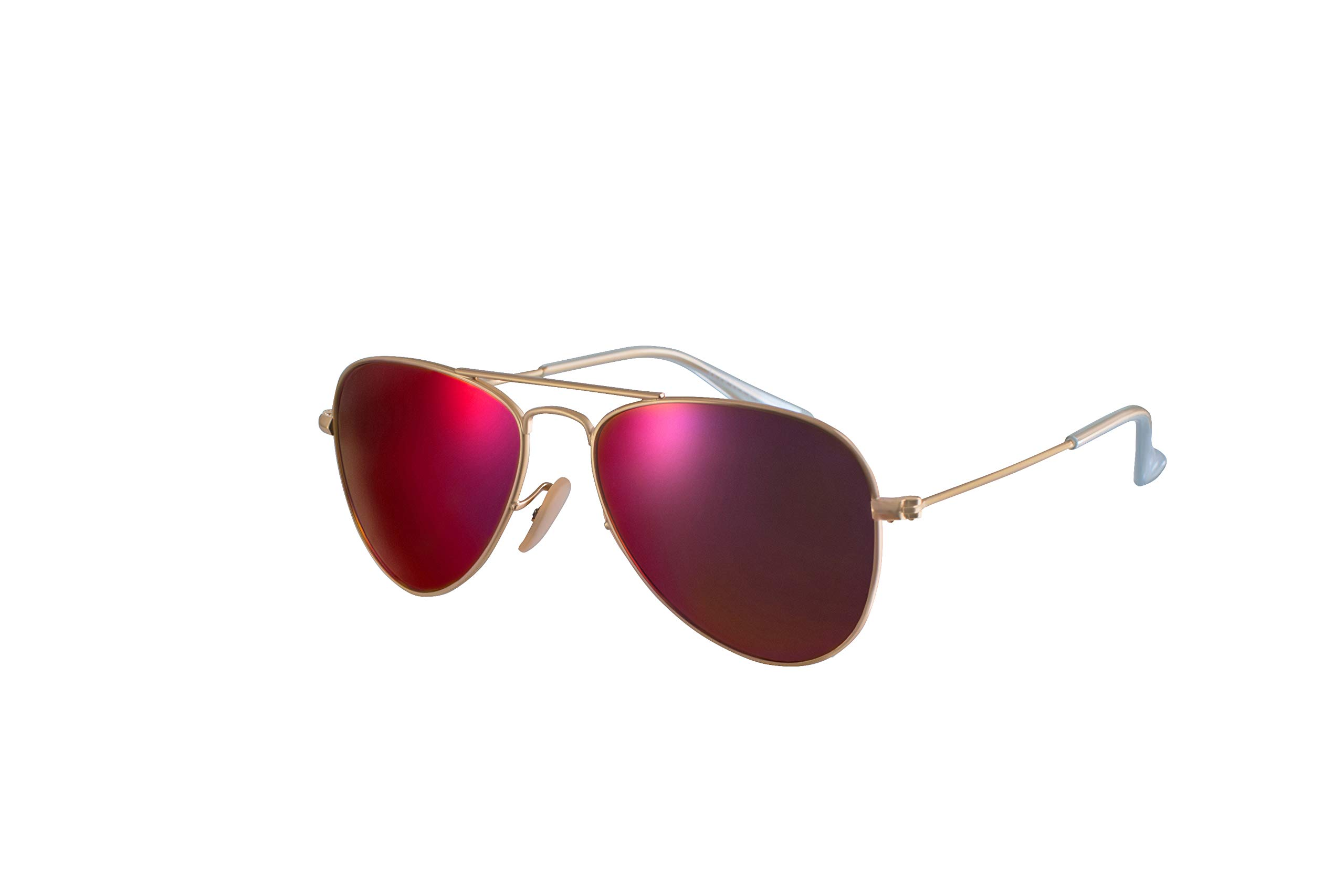 Ali&Alex Classic Metal Aviator 100% UV Polarized Unisex Designer Sunglasses for Kids